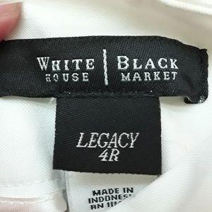 White House Black Market Sz 4 white dress pants